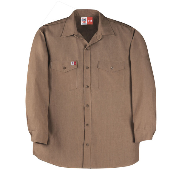 Big Bill FR 4.5 oz. Nomex Work Shirt TX290N4 Khaki