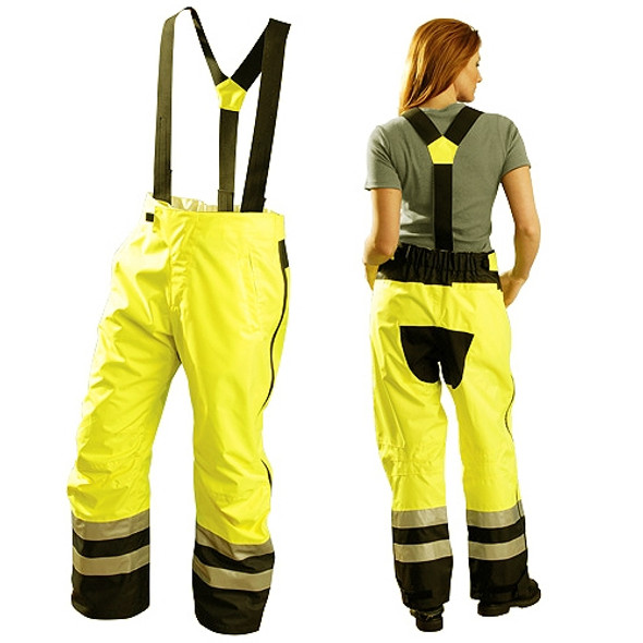 Occunomix Class E Hi Vis Speed Collection Rain Pants SP-BRP Front/Back