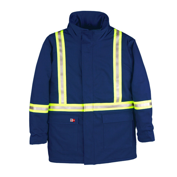 Big Bill FR X-Back Enhanced Visibility UltraSoft 7oz. Cold Weather Parka M305US7 Royal Blue