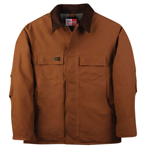 Big Bill FR UltraSoft 11 oz. Winter Canvas Duck Field Coat M513USD Brown