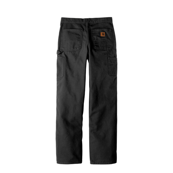 Carhartt Washed Duck Work Dungarees B11 Black back