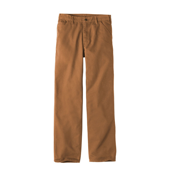 Carhartt Washed Duck Work Dungarees B11 Brown Front