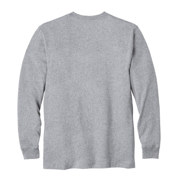 Carhartt Long Sleeve T Shirt K126 Heather Gray Back