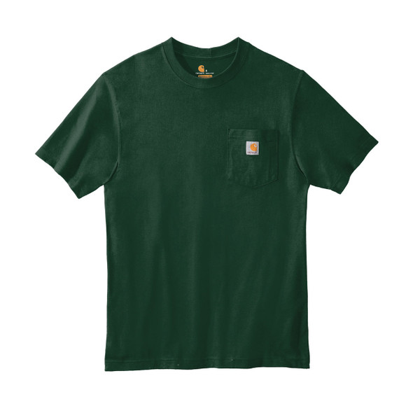 Carhartt Workwear Pocket T Shirt K87 Hunter Green Front