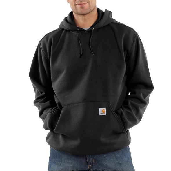 Carhartt Hooded Pullover Sweatshirt Midweight K121 Black