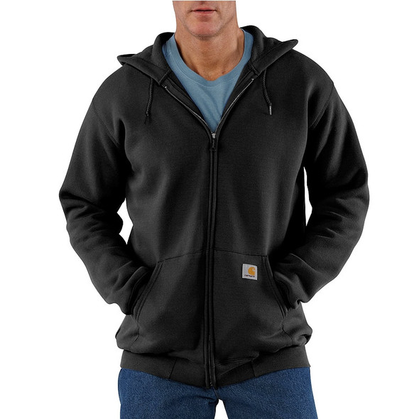 Carhartt Hooded Zipper Front Sweatshirt Midweight K122 Black