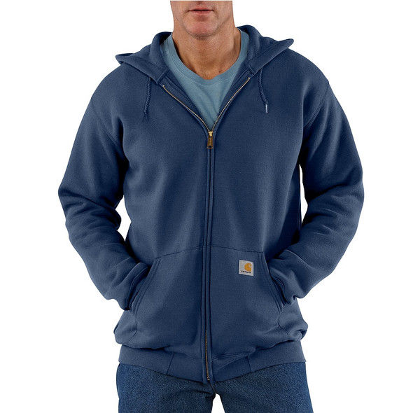 Carhartt Hooded Zipper Front Sweatshirt Midweight K122 New Navy