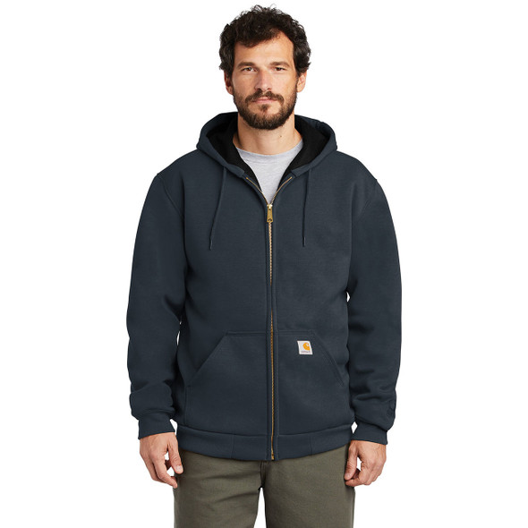 Carhartt Rain Defender Rutland Thermal Lined Zip Up Hooded Sweatshirt 100632 New Navy