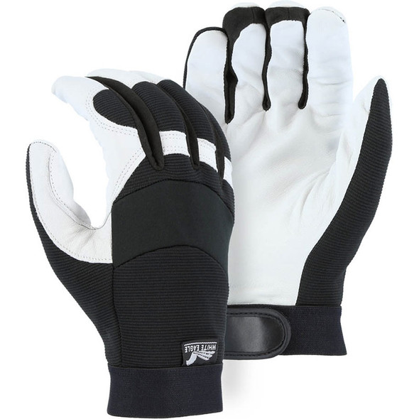 Majestic Case of 72 Pair Winter Lined White Eagle Mechanics Gloves 2153T-CASE