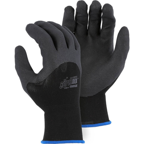 Majestic Box of 12 Pair Black SuperDex Micro Foam Gloves 3369