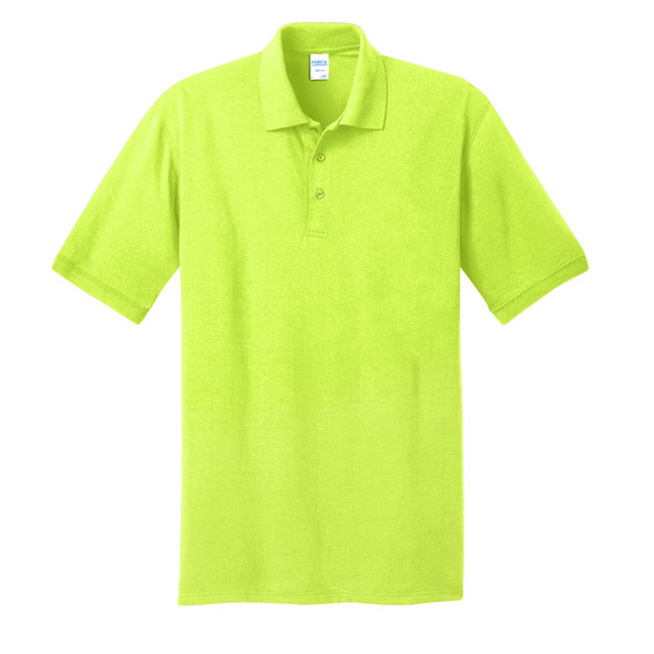 Port and Company Enhanced Visibility Safety Polo Shirt KP55 Safety Green/Front