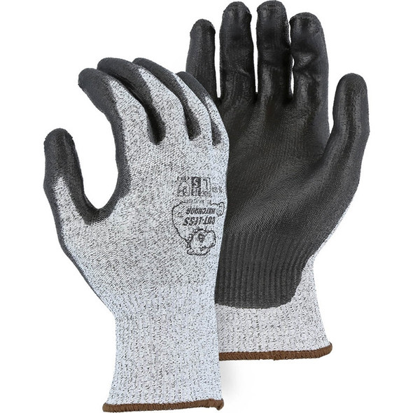 Majestic Box of 12 Pair Cut Level A4 Grey WatchDog Knit Gloves 35-1500