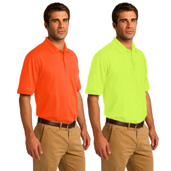 Port and Company Enhanced Visibility Polo Shirt with Pocket KP55P