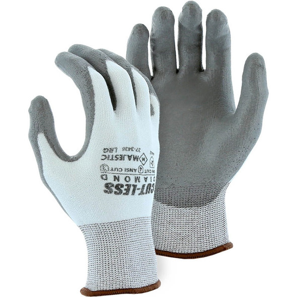 Majestic Box of 12 Pair White Cut Level A3 Dyneema Knit Gloves 37-3436