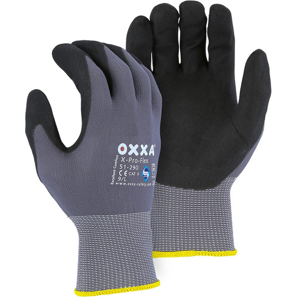 Majestic Box of 12 Pair OXXA Superior Micro Foam Nitrile Palm Gloves 51-290