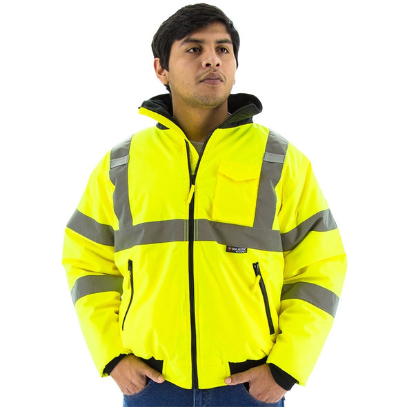Majestic Class 3 Hi Vis Yellow Waterproof Bomber Jacket 75-1300