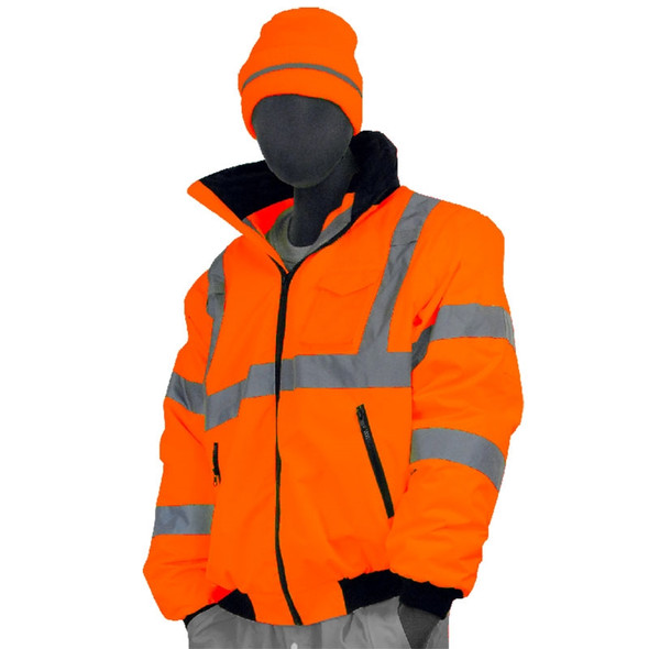 Majestic Class 3 High Visibility Orange Waterproof Bomber Jacket 75-1302