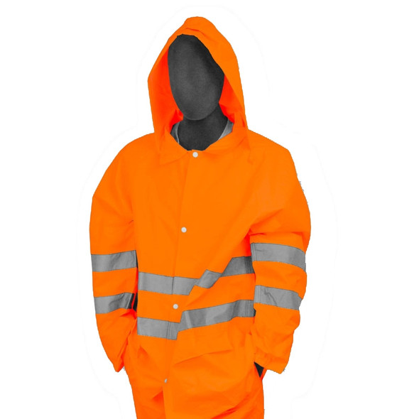 Majestic Class 3 Hi Vis Orange Rain Jacket 75-1352
