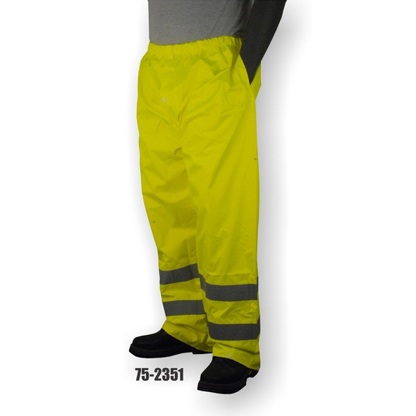 Majestic Class E Hi Vis Yellow Waterproof Rain Pants 75-2351