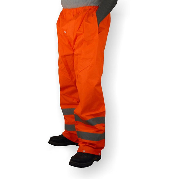 Majestic Class E Hi Vis Orange Waterproof Rain Pants 75-2352