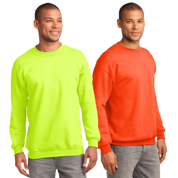 Port and Company Enhanced Visibility Crewneck Sweatshirt PC90