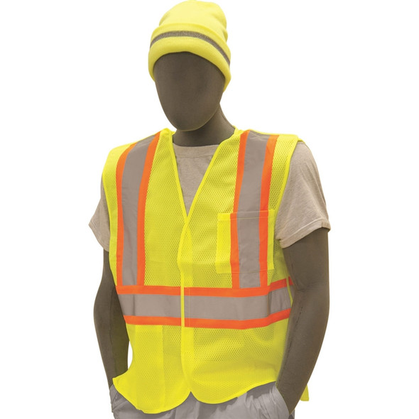 Majestic Class 2 Hi Vis Yellow 5-Point Breakaway Safety Vest 75-3219