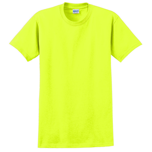 Gildan Enhanced Visibility Ultra Cotton T-Shirt 2000 Safety Green Front
