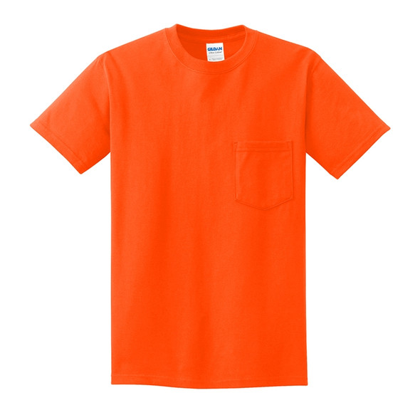 Gildan Enhanced Visibility Cotton T-Shirt with Pocket 2300