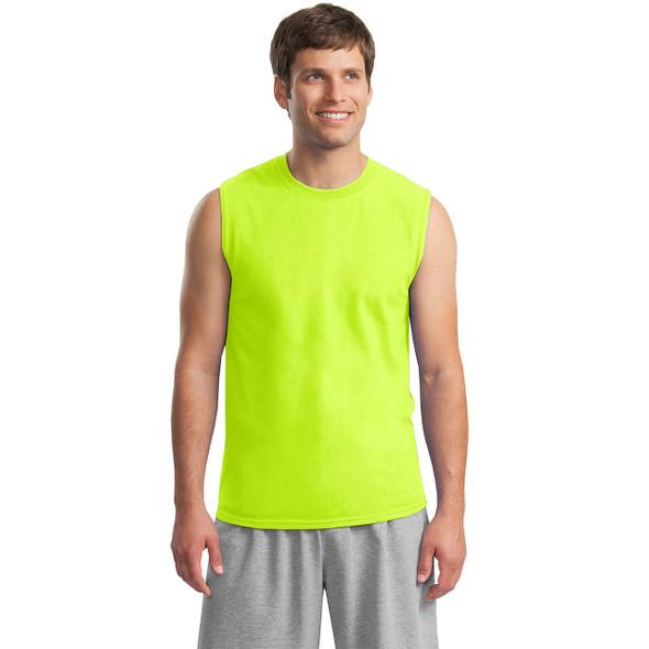 Gildan Hi Vis Ultra Cotton Sleeveless T-Shirt 2700