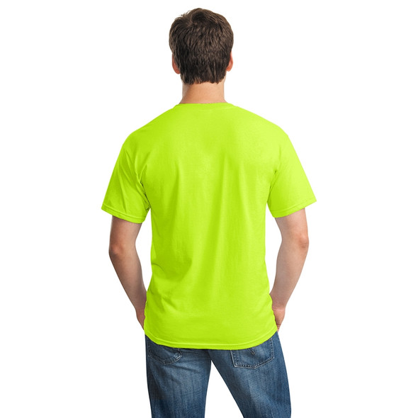 Gildan Hi Vis Heavy Cotton T-Shirt 5000 Safety Green/Back