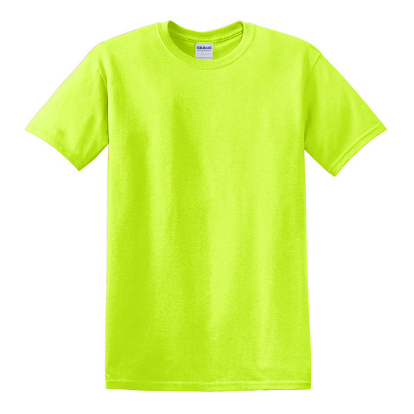 Gildan Hi Vis Heavy Cotton T-Shirt 5000 Safety Green Front