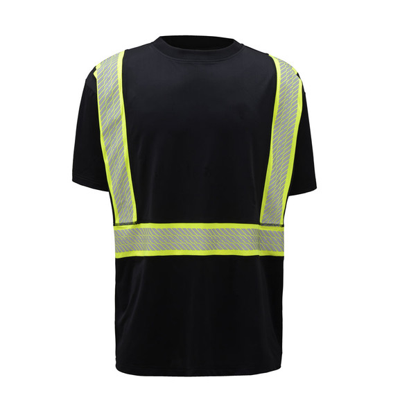 GSS Enhanced Visibility Black Premium ONYX T-Shirt with Segmented Tape 5703 Front