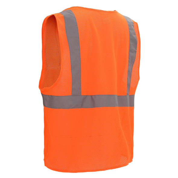GSS Class 2 Hi Vis Orange Mesh Vest with Zipper 1002