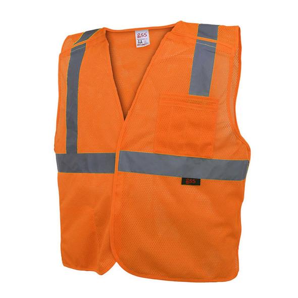 GSS Class 2 Hi Vis Orange 5 Point Breakaway Vest 1802