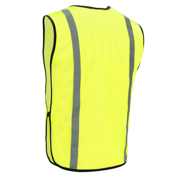 GSS Non-ANSI Hi Vis Lime Vest with Elastic 3001 Back