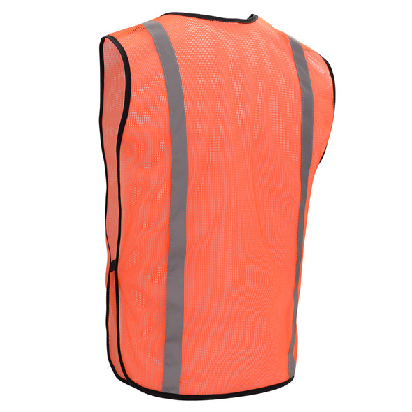 GSS Non-ANSI Hi Vis Orange Vest with Elastic 3002