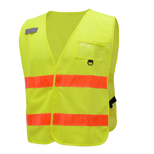 GSS Non-ANSI Enhanced Visibility Lime Mesh Vest 3111 Left Side