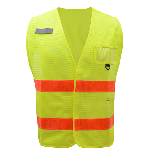 GSS Non-ANSI Enhanced Visibility Lime Mesh Vest 3111 Front