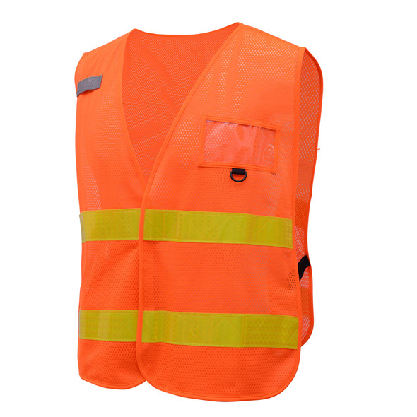 GSS Non-ANSI Enhanced Visibility Orange Mesh Vest 3112 Left Side