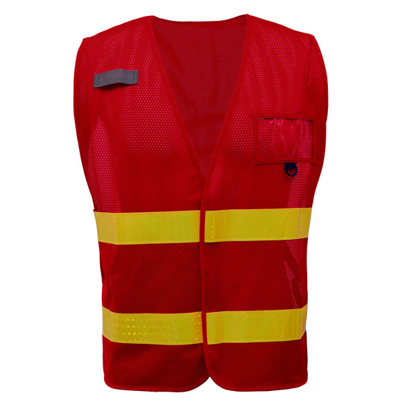GSS Non-ANSI Enhanced Visibility Red Mesh Vest 3114