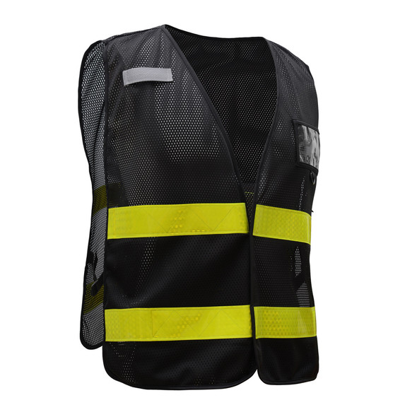 GSS Non-ANSI Enhanced Visibility Black Mesh Vest 3115 Left Side