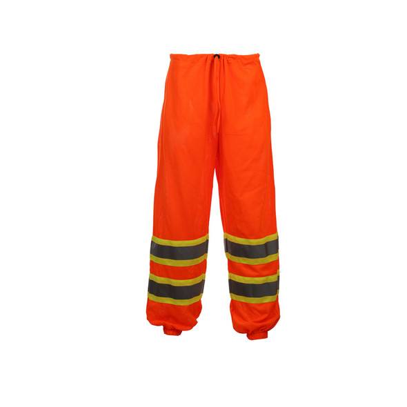 GSS Class E Hi Vis Orange 2 Tone Trim Mesh Pants 3804 Back