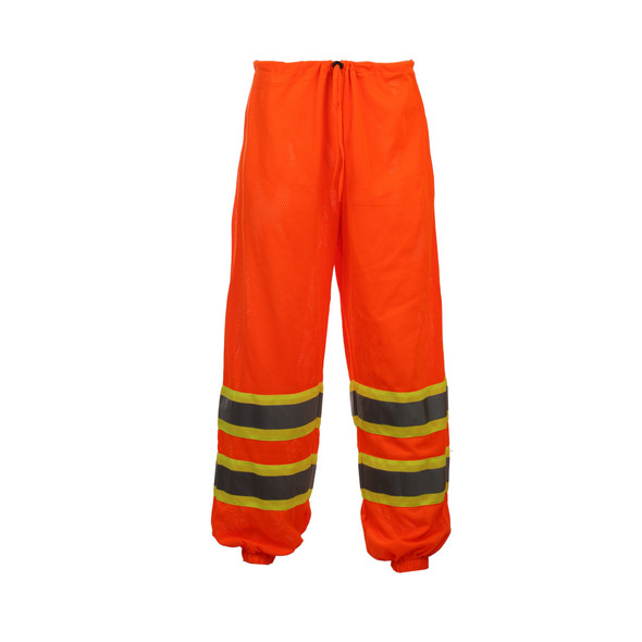 GSS Class E Hi Vis Orange 2 Tone Trim Mesh Pants 3804 Front