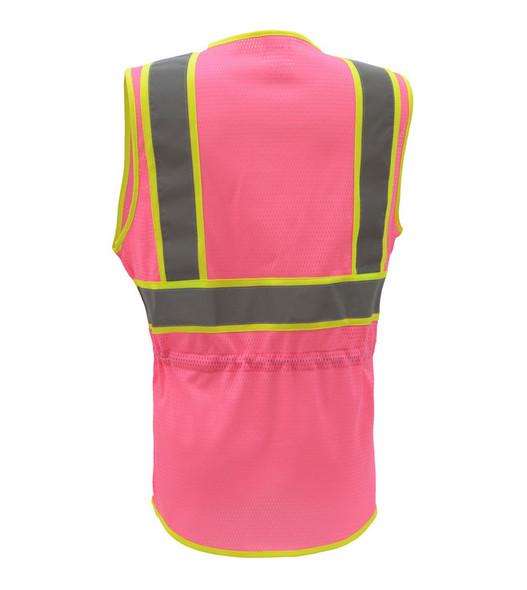 GSS Class 2 Hi Vis Pink Ladies Vest 7806 Back