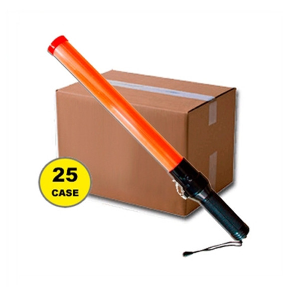 Case of 24 Red 21 Inch Traffic Batons 412-CASE