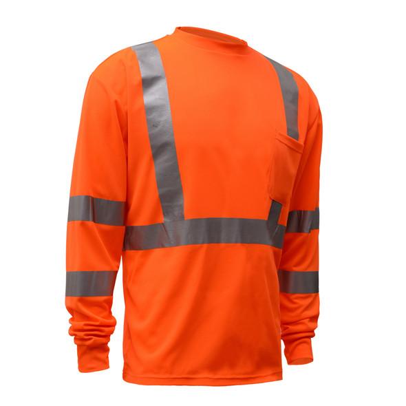 GSS Class 3 Hi Vis Orange Long Sleeve T-Shirt 5506 Right Side