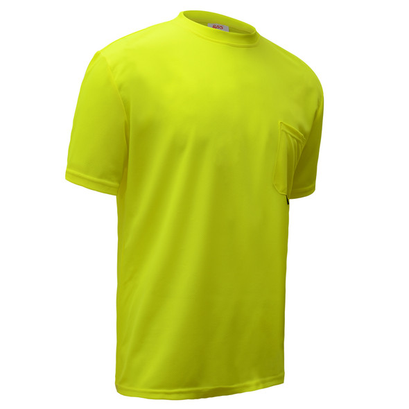 GSS Non-ANSI Hi Vis Lime Moisture Wicking T-Shirt 5501 Right Side