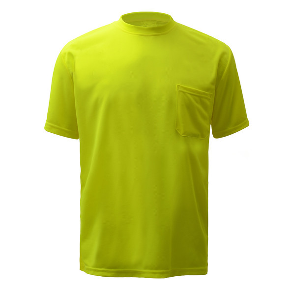 GSS Non-ANSI Hi Vis Lime Moisture Wicking T-Shirt 5501 Front