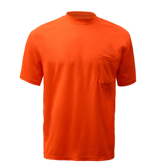 GSS Non-ANSI Hi Vis Orange Moisture Wicking T-Shirt 5502 Front