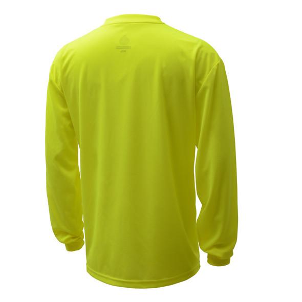 GSS Non-ANSI Hi Vis Lime Long Sleeve Moisture Wicking T-Shirt 5503 Back